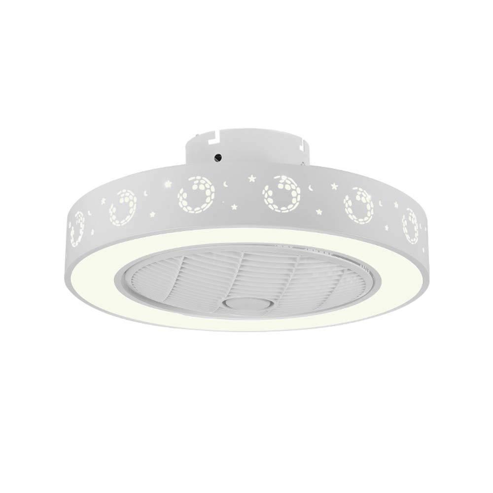 ライトキットとリモコン付きLEDシーリングファン、調光対応統合型LEDシーリングライト器具モダン、フラッシュマウントシーリングランプデコレーションリビングルームディナールーム(4 ABSブレード)   B07TT6P14Z