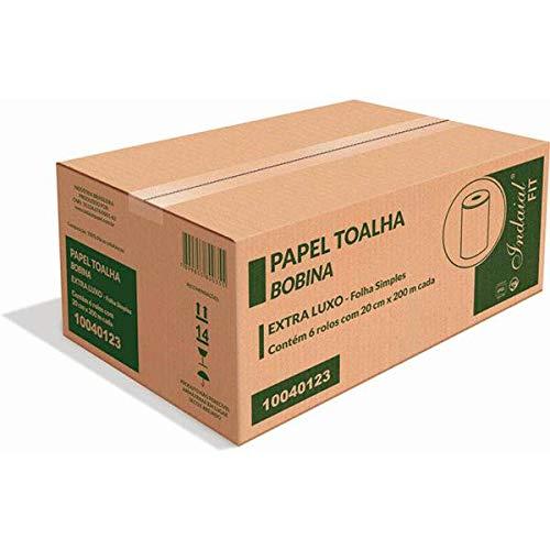 Papel Toalha Bobina Soft Indaial 20cmx200m 6 Rls