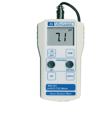 (Milwaukee MW801 LED Economy Portable pH/EC/TDS Meter with 1 Point Manual Calibration, 0.0 to 14.0 pH, +/-0.2 pH Accuracy, +/-0.1 pH Resolution )