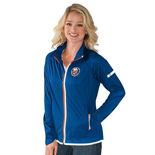 NHL New York Islanders Women's Batter Light Weight Full Zip Jacket, Medium, Royal - Ny Islanders Jacket
