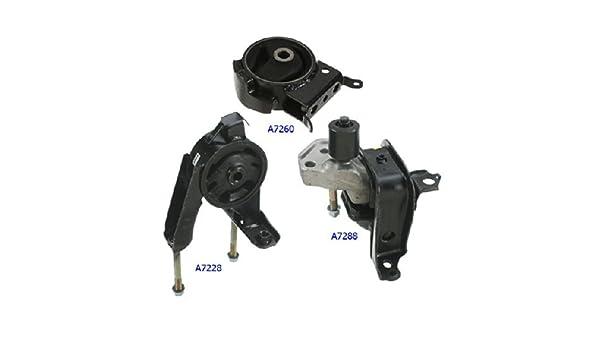 Auto Trans 3 PCS Motor /& Trans Mount FOR 2000-2005 Toyota Echo 1.5L