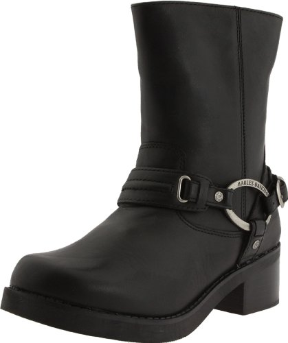 Harley-Davidson Women's Christa Motorcycle Harness Boot, Black, 8 M US