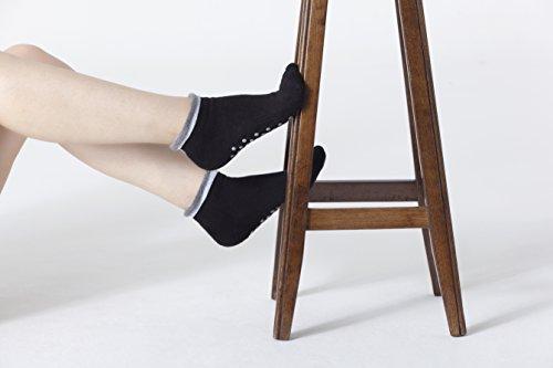 Socks n Socks - Pilates Yoga Grip Luxury Turkish Cotton 4-pair Non slip socks