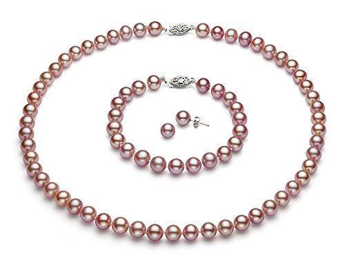 14k-Gold-Pink-Freshwater-Cultured-Pearl-Set-AAA-Quality