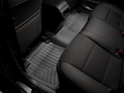WeatherTech Custom Fit Rear FloorLiner for Hummer H2, Black (Hummer H2 Parts)