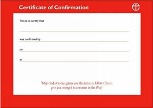 confirmation certificate template
