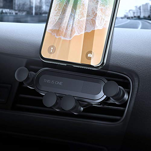 IPOW Car Phone Mount, 2019 New Universal Auto-Retractable Hands Free Gravity Car Air Vent Cell Phone Holder with Auto Lock and Auto Release for All Smartphones with Soft Thin Case