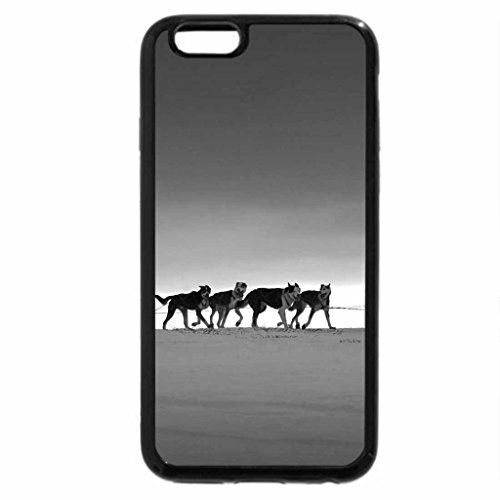 iPhone 6S Case, iPhone 6 Case (Black & White) - Nice Dogs.
