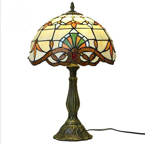 Lámpara de mesa de estilo Tiffany, lámpara de escritorio de ...