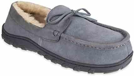 140ed8eb72e Chaps Men s Slipper House Shoe Moccasin Memory Foam Suede Indoor Outdoor  Nonslip Sole