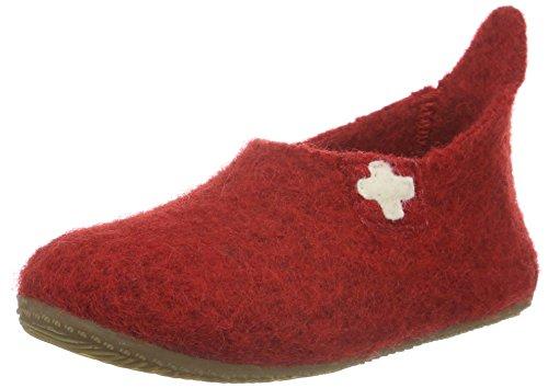 Living Kitzbühel Slipper SCHWEIZER Kreuz - Zapatilla de estar Por casa Unisex Niños Rojo - Rot (Rot 350)
