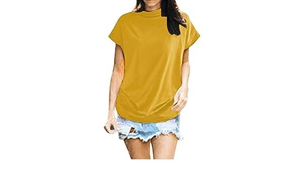 SMILEQ Camiseta para Mujeres Talla Grande Cuello Alto Chaleco de ...