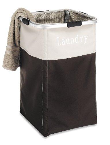 Aluminum Frame Laundry Hamper - Whitmor Easy Care Laundry Hamper - Espresso