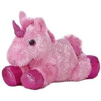 Amazon Com Aurora 8 Mini Flopsie Plush Unicorn Pink Toys Games