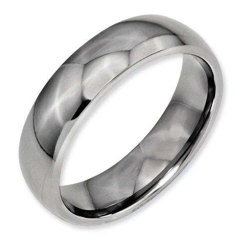 Bridal Titanium 6mm Polished Band