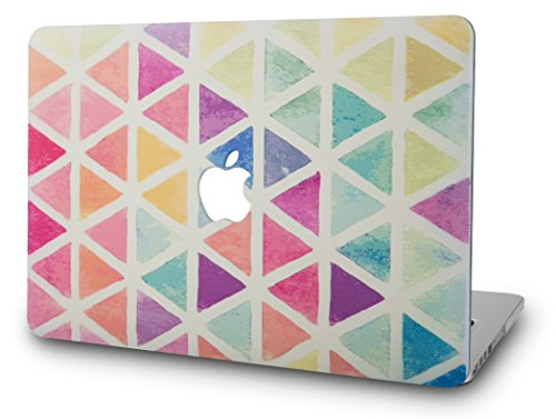 KEC Laptop Case for MacBook Air 13 Plastic Case Hard Shell Cover  A1466/A1369 (Not Compatible 2018 Mac Air 13 Retina A1932) (Color Triangles)