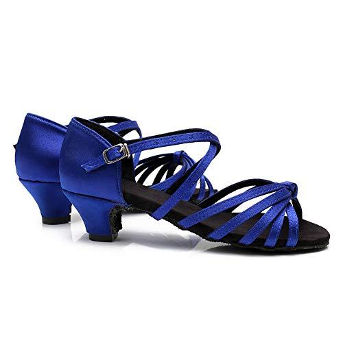 Hipposeus Para Salón xgg Modelo Latino Baile Mujer dj Zapatillas Bajo 4 De Azul Tacón Cm Eswh tqwxXrFPtO