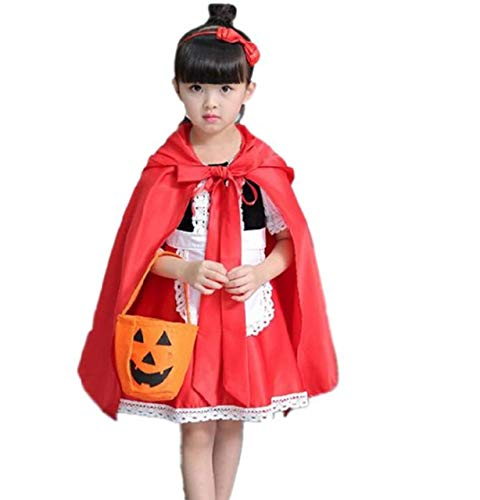 Little Red Riding Hood Dress Halloween Cosplay Costumes for Girls ()