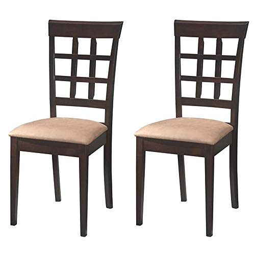 Set Cane Back Chairs - Gabriel Wheat Back Side Chairs Cappuccino and Beige (Set of 2)