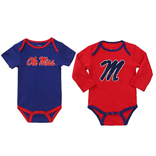 NCAA Ole Miss Rebels 2 pcs Baby Bodysuits (6-9)