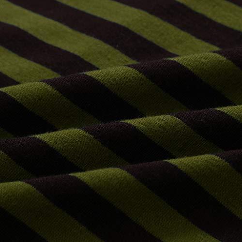 PASHY Summer Beachwear Brand Striped Y-Back Deep V Neck Muscle Tanktop Straight Bottom - Sleeveless T Shirt Green by PASHY (Image #3)