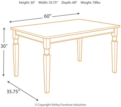 home, kitchen, furniture, kitchen, dining room furniture,  tables 4 image Signature Design by Ashley Whitesburg Dining Room Table in USA