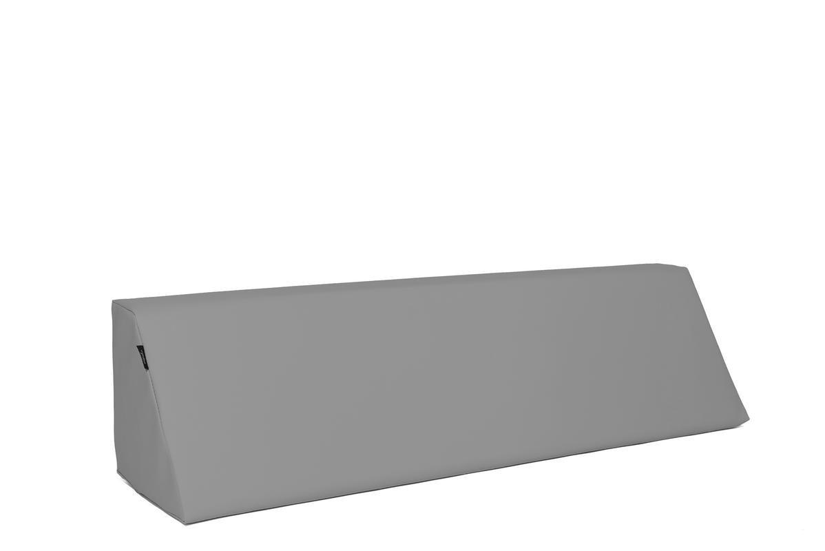 MiPuf - Respaldo Inclinado para Colchon de Palet - Tamaño 120x30 - Tejido Nautico para Exterior - Color Gris: Amazon.es: Hogar