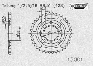 REGINA Standard Kettensatz Kymco Zing 125 1997-2006