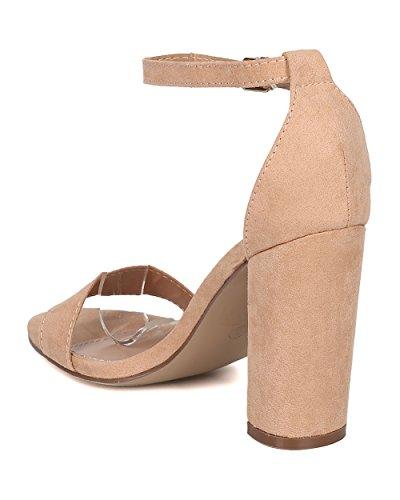 Sandalo Con Tacco Grosso Da Donna Breckelles - Elegante, Formale, Da Sposa, Versatile - Tacco Cinturino Alla Caviglia - Gg67 By Natural