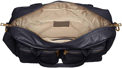 véritable Made en Italy cuir à femme Bleu d'épaule 100 Blu Sac à et in main 36x26x15cm la CTM RzSxPOqO