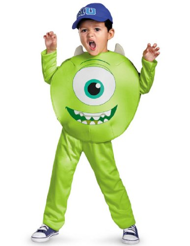 Disney Pixar Monsters University Mike Toddler Classic Costume, 3T-4T