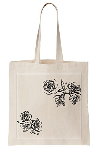 Blossom Canvas Roses Bag Tote Artwork Vintage gSd6Bzd