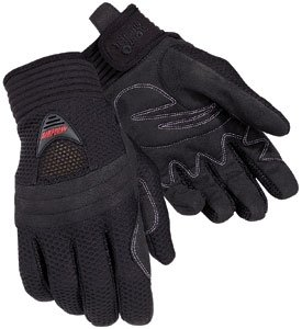 Tourmaster Mens Airflow Motorcycle Gloves Black Large L
