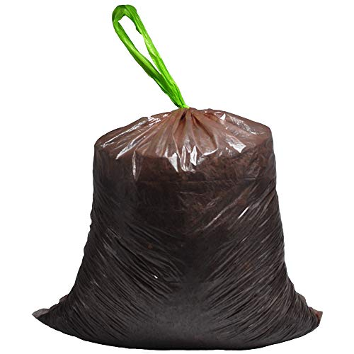 Price comparison product image Small Trash Bags Compostable Bags 4 Gallon / 15 Liter Food Scrap Yard Waste Bags Kitchen Trash Bag Shower Room Trash Bag Degradable Garbage Bags AGC Certification, Comply With EU ROHS(120Count Brown)