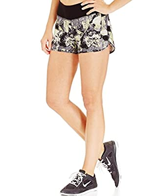Ideology Womens Printed Woven Active Shorts, Stone Geo, XS