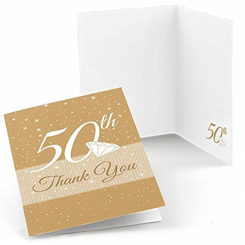 - Big Dot of Happiness 50th Anniversary - Anniversary Thank You Cards (8 Count)