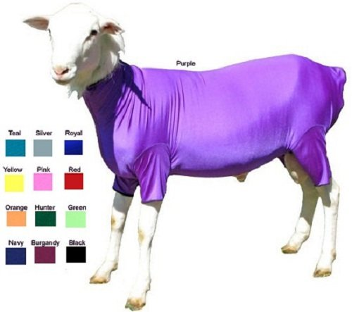 Sleazy Sleepwear Solid Lycra Lambajams Lamb Body Sheet Sleazy Sheep. Keeps Wool Clean and Tight. (Navy, Small (70-90 lbs)) by Sleazy Sleepwear