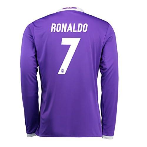1318d6cf426 adidas Ronaldo #7 Real Madrid Men's Away Soccer Jersey 2016/17 Long Sleeve  70%OFF