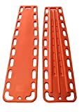 LINE2design Spinal Immobilization Medical Backboard with Speed Clip Pins Orange