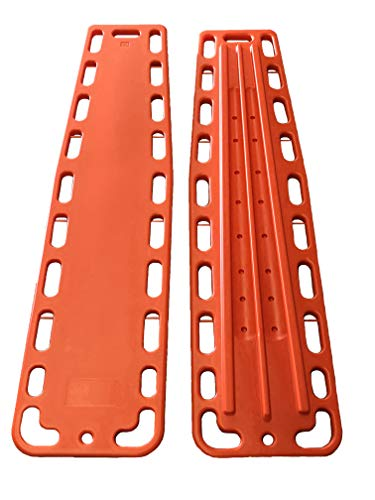 (LINE2design Spinal Immobilization Medical Backboard with Speed Clip Pins Orange)