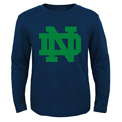 NCAA Notre Dame Fighting Irish Primary Logo RP Long Sleeve Tee, Large (14-16), Dark Navy