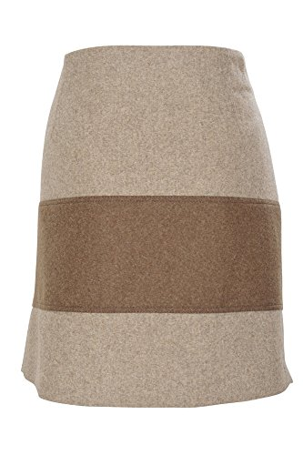 Brunello Cucinelli Rock Damen Tulpenrock Einfarbig 42 IT Beige