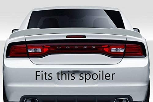 2 Piece Suitable for 15-19 Dodge Charger SRT and fits Hellcat Standard Edge Rear Wicker Bill Spoiler