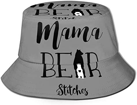 Junkai ママ ベア バケットハット 男女兼用帽子 UV 翼幅広 紫外線対策 日よけ 小顔効果