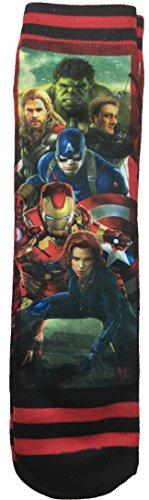 Thor Mens Socks (Marvel Avengers Captain America Iron Man Thor Photo Real Socks - 1 Pair)