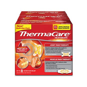 ThermaCare 8-Hour Joint/Muscle HeatWraps, 11 ct. x 6 AS by American Standart