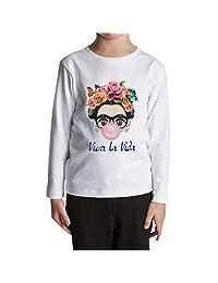 ZMLIA Frida Kahlo - Playera de Manga Larga con Cuello Redondo Unisex 3e285f85da221