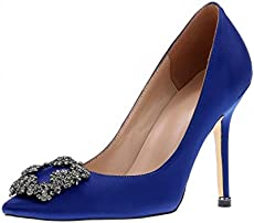 manolo blahnik blue carrie shoes