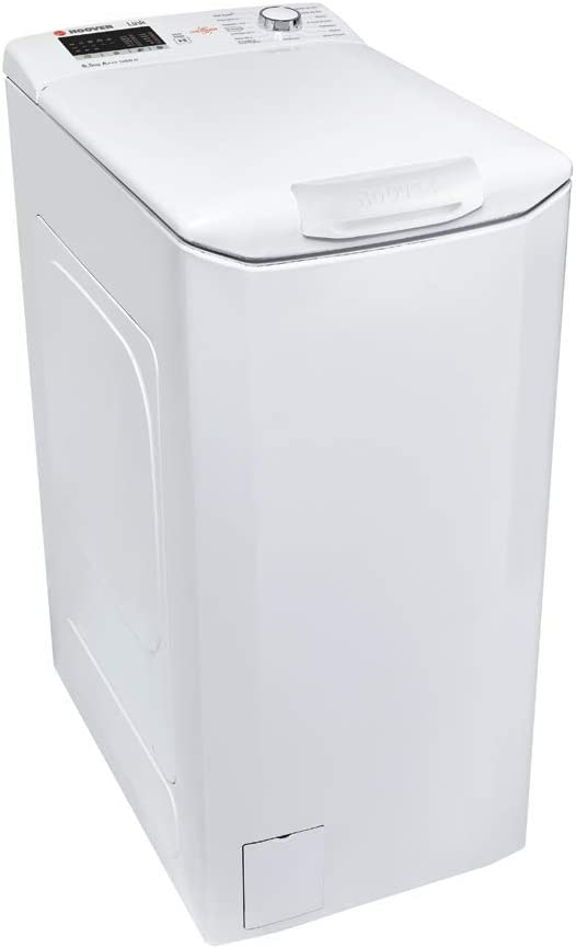 Hoover HLT 3652L-37 3652L-37-Lavadora Carga Superior-6,5KGS-NFC-1200rpm-Display Tactil-Clase A+++AB, 164 W, 6.5 kg, 61 Decibelios, 14 Velocidades, Blanco