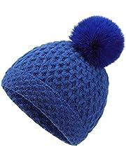 WELROG Kids Winter Warm Knit Hat Infant Toddler Beanie Pompom Hat Knit Skull Cap Hats Beanie Cap for Baby Boys Girls
